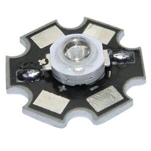 5x-HighPower-Led-1-Watt-auf-Star-Platine-350mA-1-W-Hochleistungs-Chip-High-Power