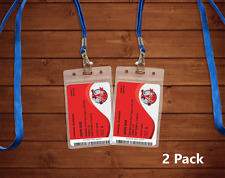 2 Transparent Carnival Cruise Lines I.D. Holders & Lanyards ZIP LOCK SEALED NEW