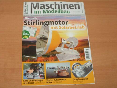 "Maschinen im Modellbau /""Stirlingmotor mit Solarbetrieb/"" Ausgabe 1//2020"