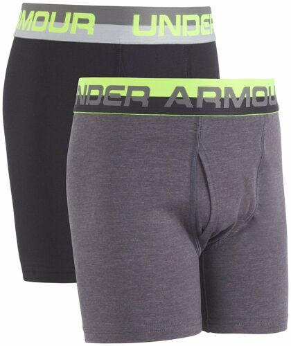 Under Armour Big Boys/' 2 Pack Solid Cotton Boxer Briefs Assorted Colors