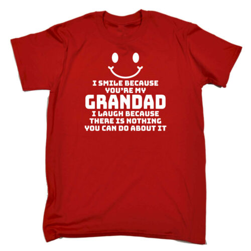 I Smile Because Youre My Grandad Funny Kids Childrens T-Shirt tee TShirt