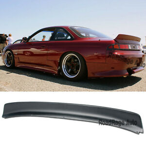 240sx Fairlady >> 95-98 Nissan 240SX S14 Coupe Rocket Bunny Style Rear Trunk Wing Spoiler Body Kit