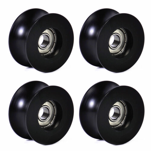 4X 0840UU 8mm Groove Guide Pulley Sealed Rail Ball Bearing 8x40x20.7mm V ZF