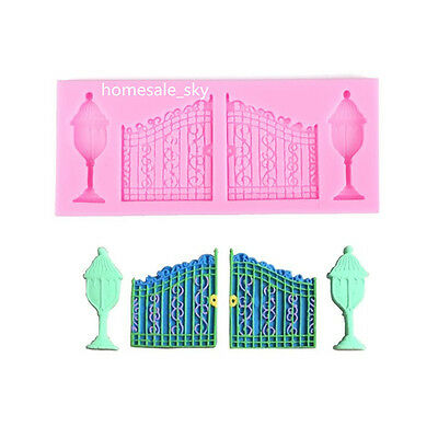 3D Vintage Door Silicone Fondant Mould DIY Cake Decorating Chocolate Mold Tool