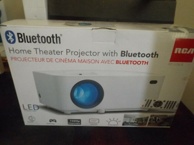 Home Theater Projector RCA Bluetooth LED Home Theater Projector NEW OPEN BOX