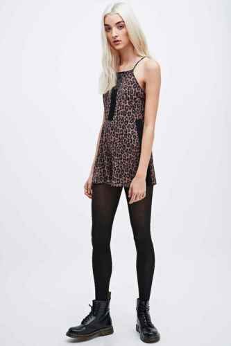 URBAN Outfitters pins /& Needles Leopardato pagliaccetto-Rrp £ 52-NUOVISSIMO