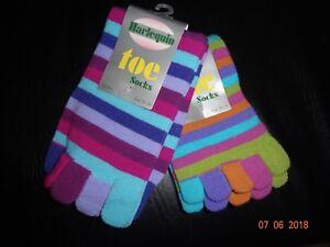 Brand New Ladies/Childrens Harliquin Cosy Toe Socks