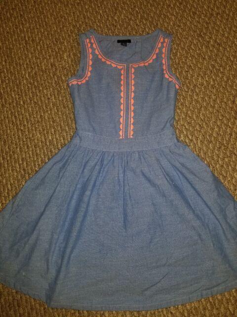 a3489c5e25d Girls size 10 TOMMY HILFIGER denim Open Back Dress