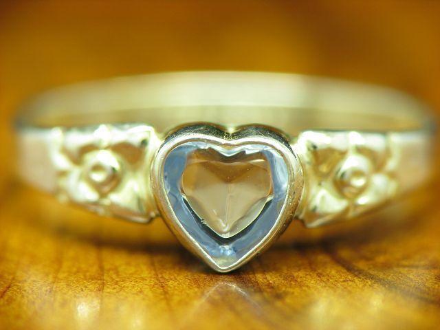 925 Sterling silver Ring mit Glas Besatz   Herz   Echtsilver   0,7g   RG44