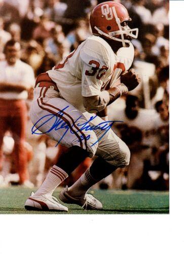 Greg Pruitt Autographed 8x10 Oklahoma Sooners