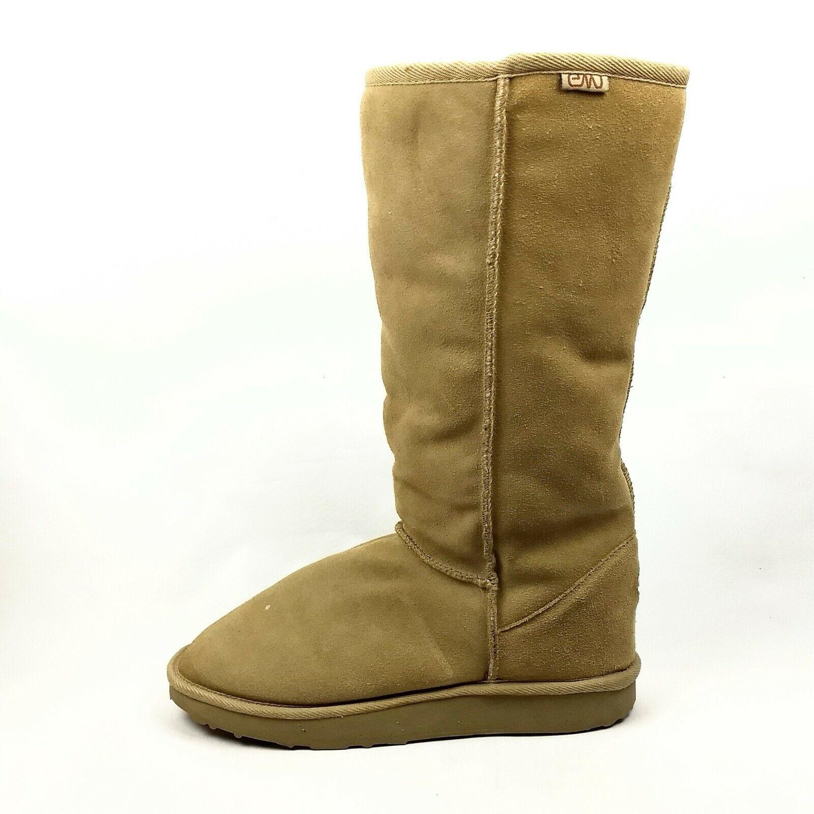 Emu Australia Winter Sheepskin Boots Womens Size 10 Tan Washable Wool Shearling