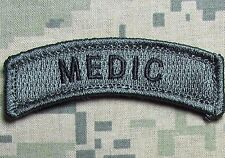 MEDIC TAB USA ARMY VELCRO® BRAND FASTENER ACU DARK MORALE BADGE PATCH