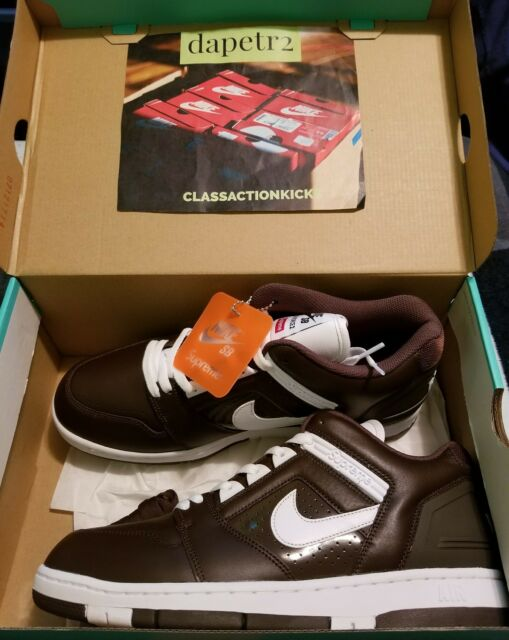 save off dd5f5 eca38 SUPREME x NIKE SB Air Force 2 LOW Size 11.5 Baroque Brown AA0871 212 AF2 New