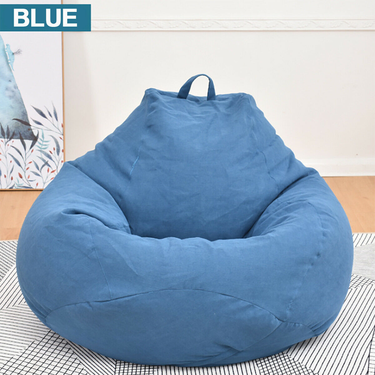Brilliant Large Bean Bag Chairs Couch Sofa Cover Indoor Lazy Lounger For Adults Kids Wash Beatyapartments Chair Design Images Beatyapartmentscom