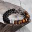 miniature 46 - 7 Chakra Healing Tiger Eye Natural Stone Yoga Energy Beads Bracelet Jewelry Hot