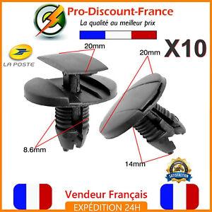 10-x-Clips-Agrafes-Pour-PEUGEOT-206-207-307-308-407-607-1007-Clio-Partner-Expert