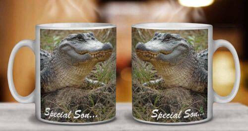 SS-CR1MG Crocodile /'Special Son/' Coffee//Tea Mug Christmas Stocking Filler Gift