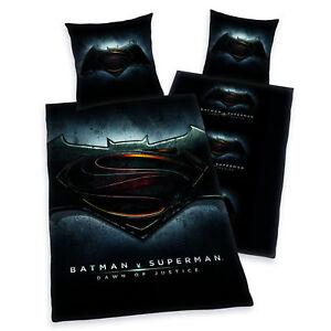 Bettwaesche-Herding-Batman-vs-Superman-Fotodruck-Zipper-135-x-200-cm-NEU-WOW