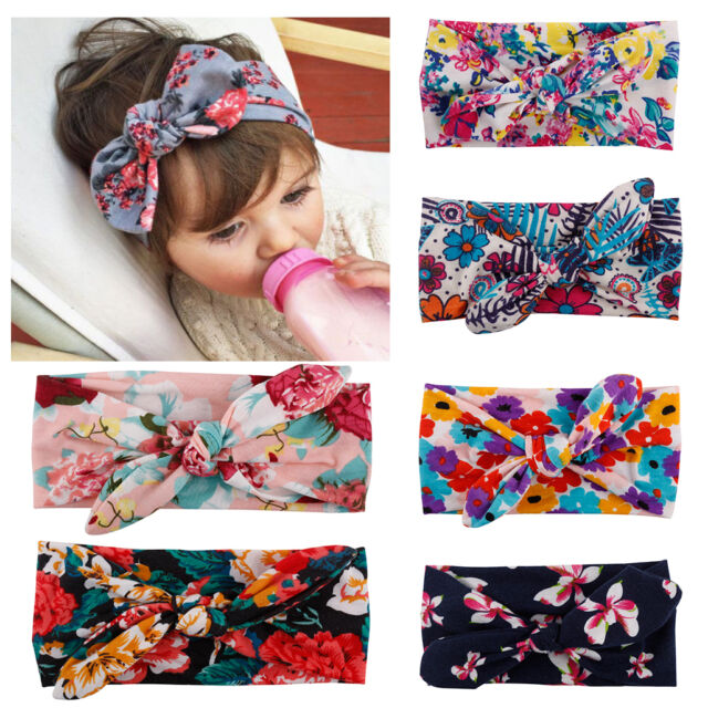6pcs Kids Baby Girl Toddler Bohemia Floral Headband Hair Accessories Headwear