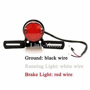 dirty bird led tail light wiring diagram 12v led tail light wiring 12v round 3 wire led motorcycle brake rear tail running ...