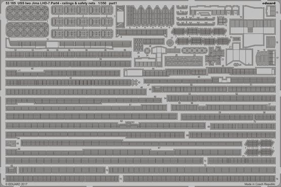 Eduard 1/350 Uss Iwo Jima Lhd-7 Parte 4 - Ringhiere & Sicurezza Nets  53185