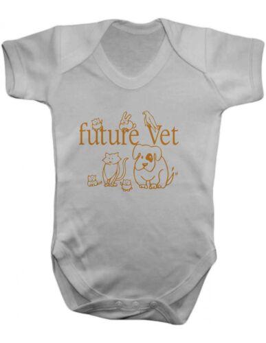 Future Vet Vest,Baby Grow,Romper,Gift,Baby Clothes,Baby Bodysuit 100/% Cotton