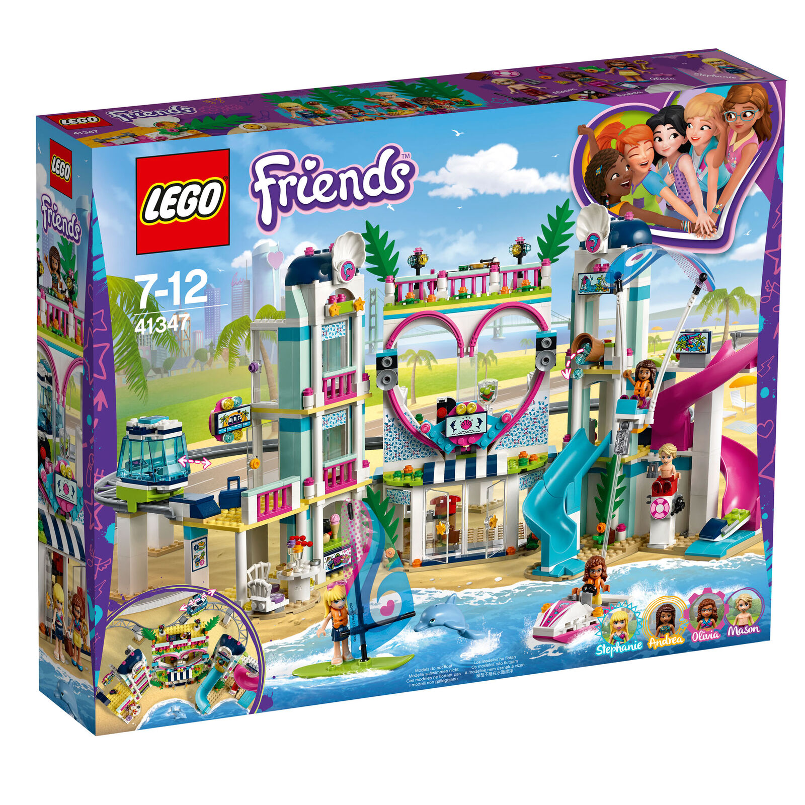 41347 LEGO Friends Heartlake City Resort 1017 Pieces Age 7+ New Release For 2018