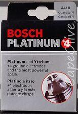 4 PCS - Bosch 4418 Platinum+4 Spark Plugs (FGR8DQP)