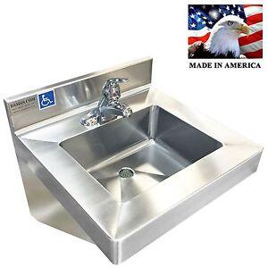 Ada Compliant Hand Sink Single Control Faucet Nsf Etl Ebay