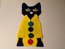 Pete the Cat & His 4 Groovy Buttons Felt Flannel Board Story Teacher Resource