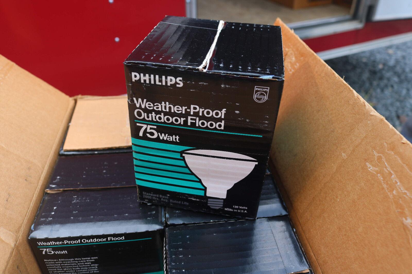 Caja de 12 Philips resistente a la intemperie inundación al aire libre 75 vatios Bombilla 75PAR FL.