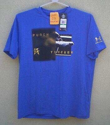SZ L Canelo Alvarez Under Armour Men/'s Blue Boxing Shirt