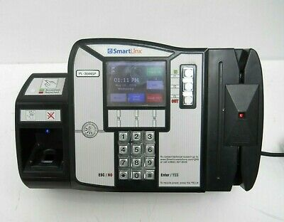Office Equipment Smartlinx Pl-3544sp Time Clock W/suprema Sfm3520-0p4 Fingerprint & Card Reader