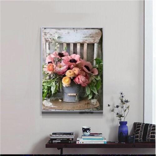 5D DIY Full Drill Flower Pot Diamond Painting Cross Stitch Kits Art Wall Decors
