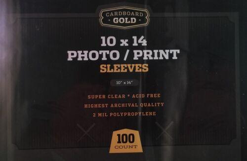 Pack 100 CBG 10 X 14 ácido libre Foto impresión Poly Mangas 10x14 cubre titulares