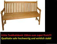 Teak Teakholz Bank Agrade 150cm Gartenbank Teakholzbank
