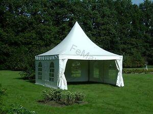 festzelt partyzelt pagodenzelt 4x4m wei traufe 2 25m ebay. Black Bedroom Furniture Sets. Home Design Ideas