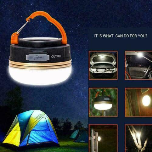 3W Camping Lantern LED USB Rechargeable Camp Lamp Light Tent Emergency Z3V7
