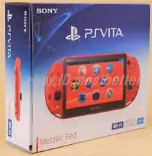 PS Vita PCH-2000 ZA26 Metallic Red Wi-Fi Console Sony PlayStation