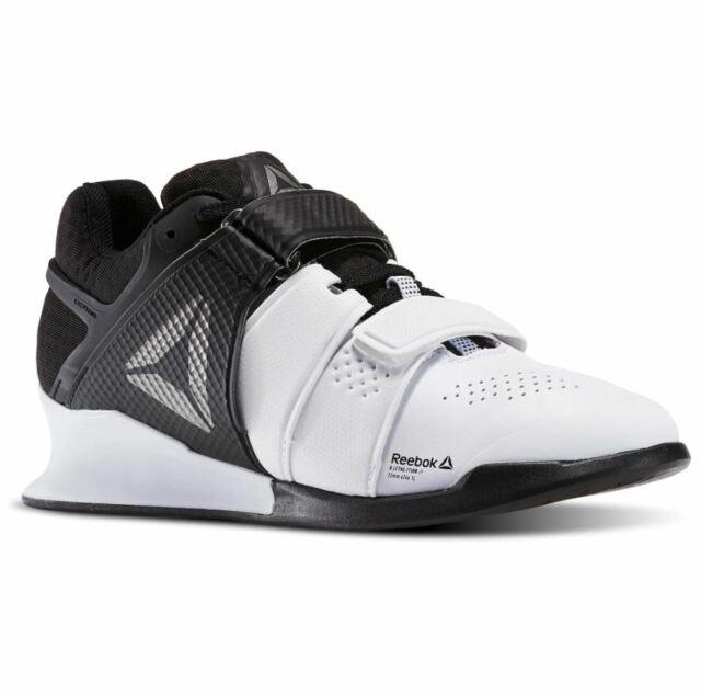 Reebok Women's Legacy Lifter Training Weight Lifting Shoes WhiteBlackPewter