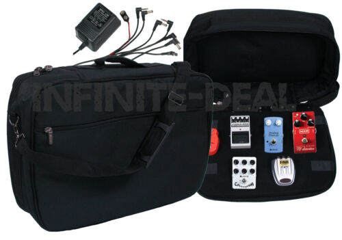 NEW POWERED PEDALBOARD BAG Guitar Effects FX Pedal Board Power Strip /& Cables