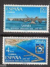 SAHARA Edifil # 260/261 ** MNH Set. Instalaciones Portuarias