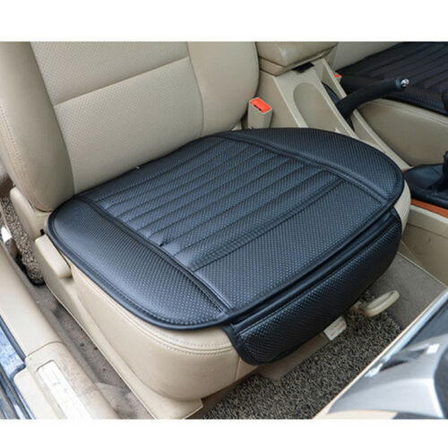 Black Covers Breathable Car Seat Pad Front Leather Cushion Chair Mat Protection
