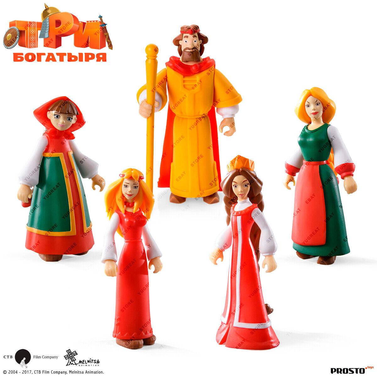 PROSTO Spielzeugs The Three Bogatyrs, Sammlung Figure Set (5 pc.) voituretoon Character