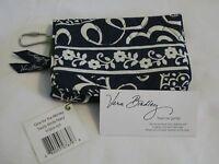Vera Bradley Twirly Birds Navy One For The Money Compact Taxi Wallet Coin