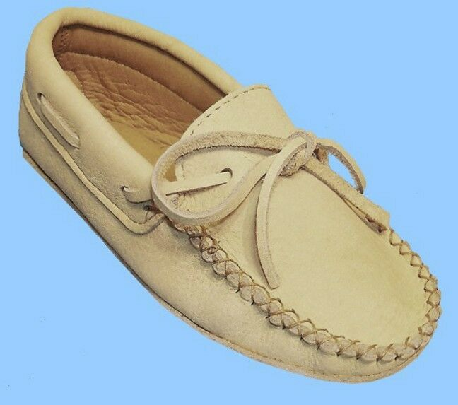 New donna Dimensione 9 CARIBOU-REINDEER LEATHER SLIPPER-scarpe-MOCCASIN-TRIPLE SOLE