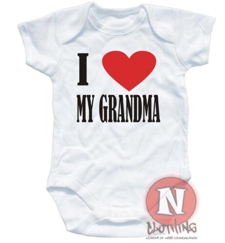 Naughtees clothing Strampler I Love Mein Oma Weiße Baumwolle Baby Grow Anzug