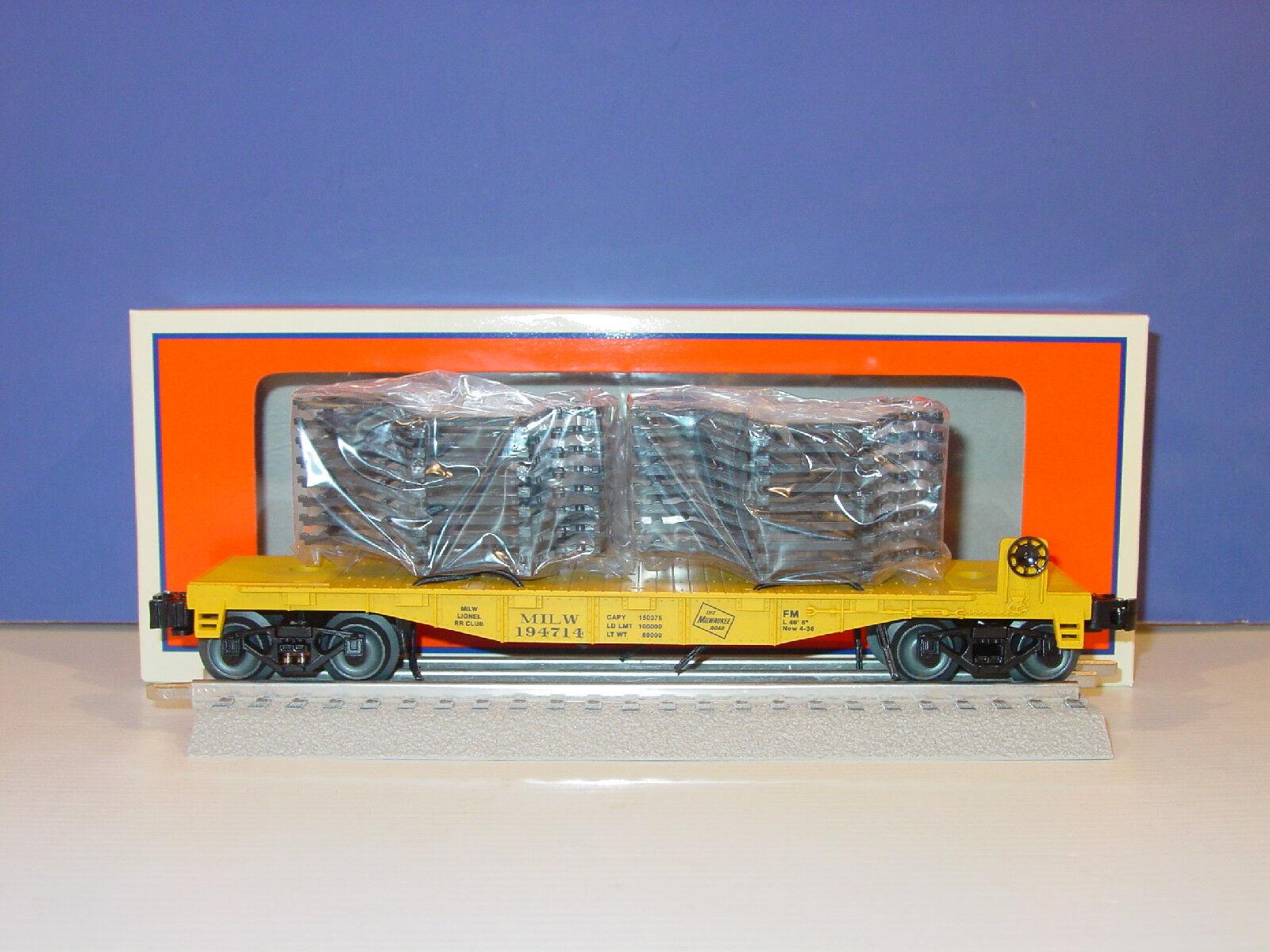 LIONEL -   6 - 58591 -  MILWAUKEE  FLAT  w   AUTO FRAME  LOAD - ( Uncataloged )