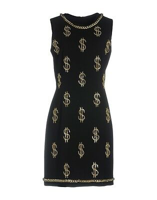 $950 SS16 MOSCHINO COUTURE x Jeremy Scott MEASURING TAPE RULER DRESS CUTE!