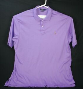 Polo-Ralph-Lauren-Pima-Soft-Touch-Polo-Shirt-Men-039-s-Size-3XLT-Tall-Purple